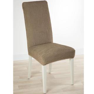 Super strečové poťahy GLAMOUR oriešková, stoličky s operadlom 2 ks 40 x 40 x 60 cm