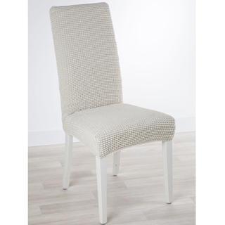 Super strečové poťahy GLAMOUR smotanová, stoličky s operadlom 2 ks 40 x 40 x 60 cm