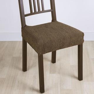 Super strečové poťahy GLAMOUR tabaková, stoličky 2 ks 40 x 40 cm