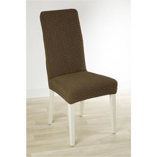 Super strečové poťahy GLAMOUR tabaková stoličky s operadlom 2 ks 40 x 40 x 60 cm