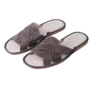 Pánske kožené papuče hnedé