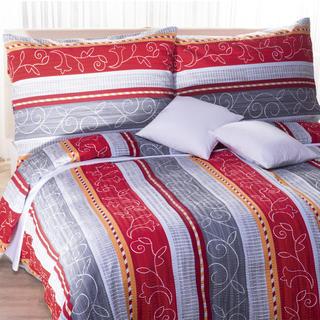 Krepové posteľné obliečky Fatima červené