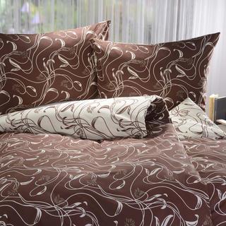 Bavlnené posteľné obliečky Beatrice hnedé