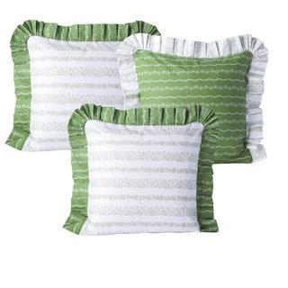 Bavlnené obliečky na vankúšiky Evelina zelené