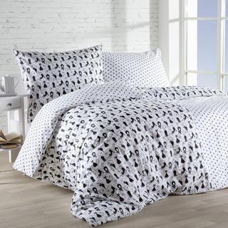 Bavlnená posteľná súprava MAČKY