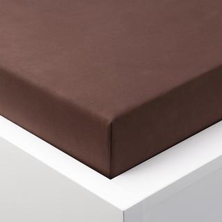 Napínacie prestieradlo jersey EXCLUSIVE čokoládová