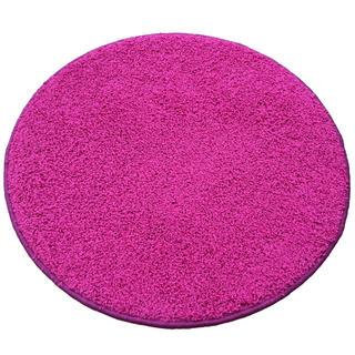 Okrúhly koberec SHAGGY ružový