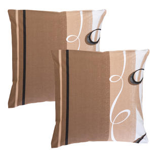 Bavlnené obliečky na vankúšiky Twist hnedé 2 kusy