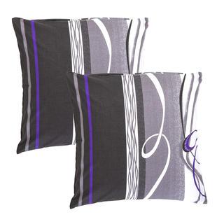 Bavlnené obliečky na vankúšiky Twist sivé 2 kusy