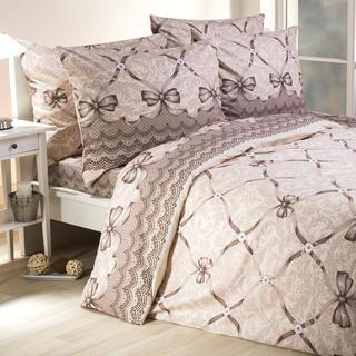 Bavlnené posteľné obliečky Audrey hnedé