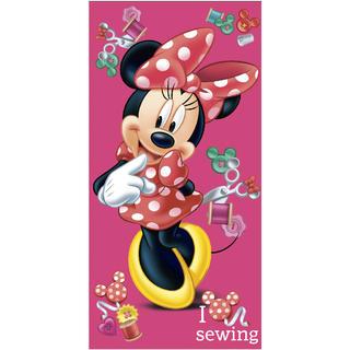 Detská bavlnená osuška Minnie ružová