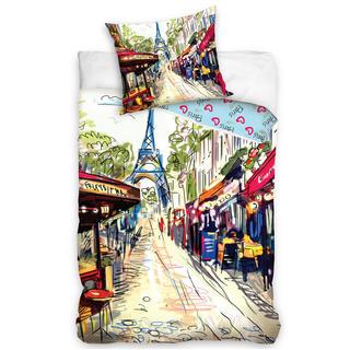 Bavlnené posteľné obliečky Paris Café Rue