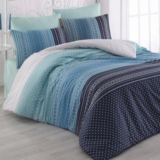 Bavlnené posteľné obliečky Summer modré
