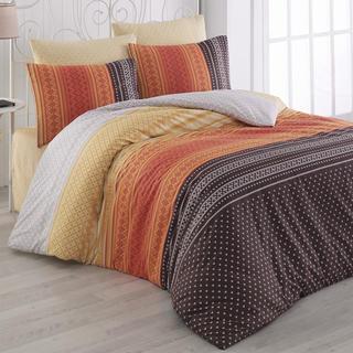 Bavlnené posteľné obliečky Summer oranžové