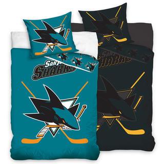 Bavlnené posteľné obliečky NHL San Jose Sharks