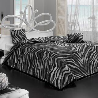 Prikrývka na posteľ Bengal čierna