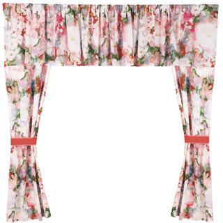 Bavlnené závesy Monet 5 dielov ružová