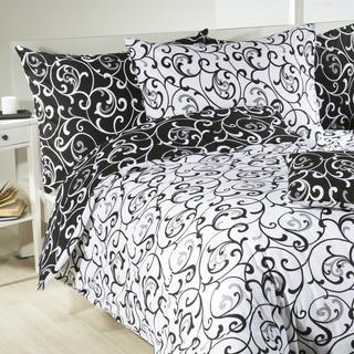 Bavlnené posteľné obliečky Veronika čiernobiele