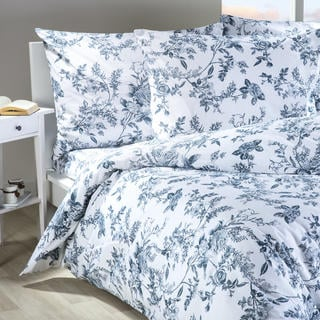 Bavlnené posteľné obliečky Mona modrobiele