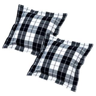Bavlnené návliečky na vankúšiky kocka čiernobiele 2 ks