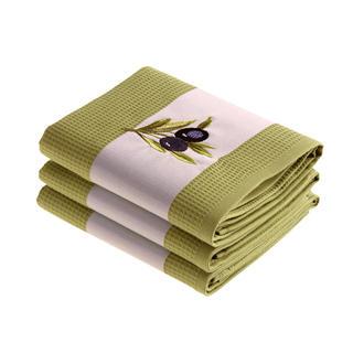 Bavlnené utierky Oliva 3 ks zelené