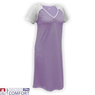 Dámska funkčná nočná košeľa Juska fialová