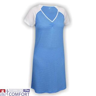 Dámska funkčná nočná košeľa Juska modrá