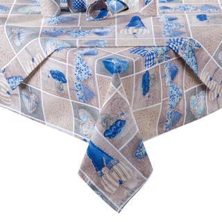 Obrus patchwork Srdce modré