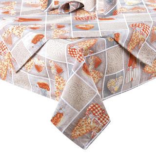 Obrus patchwork Srdce oranžové