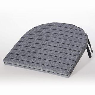 Pologuľatý sedák India s mriežkou čiernošedý 37 x 37 cm