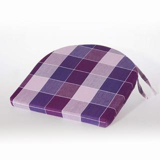 Pologuľatý sedák India kocka fialový