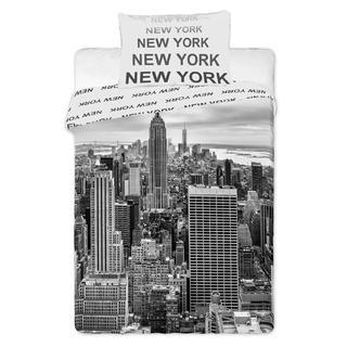 Detské posteľné obliečky New York čiernobiele