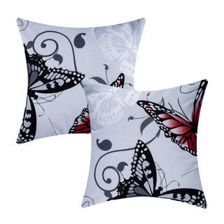 Bavlnené obliečky na vankúšiky Butterfly 2 ks