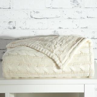 Pletená deka Tahara slonová kosť