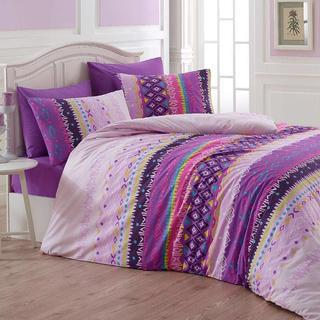 Bavlnené posteľné obliečky Melanie Lila