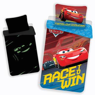 Detské posteľné obliečky Cars Race & Win svietiace
