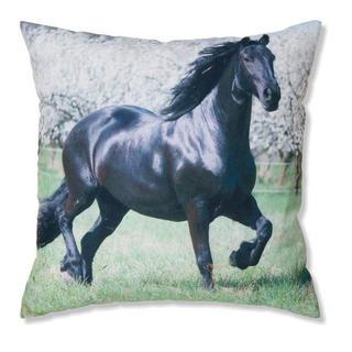 Dekoratívna obliečka na vankúšik čierny kôň