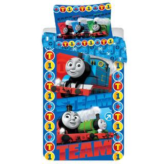 Detské posteľné obliečky Mašinka Tomáš Steam
