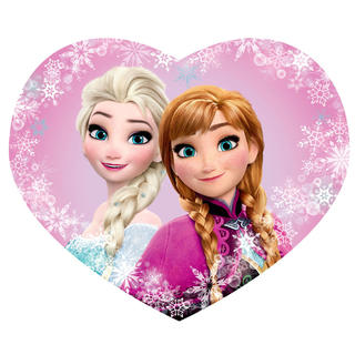 Detský vankúšik Frozen Elsa a Anna tvarovaný
