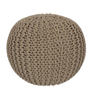 Ručne pletený puf béžový