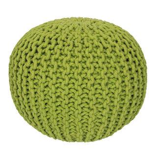 Ručne pletený puf zelený