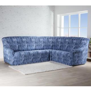 Bielastické poťahy ASTRATO modrá rohová sedačka ('š. 350 - 530 cm)