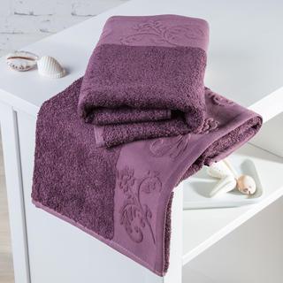 Bambusové uteráky Barcelona fialové