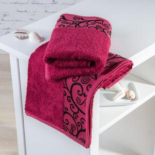Bambusové uteráky Granada bordó
