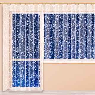Hotová žakárová záclona JOANNA - balkónový komplet