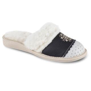 Domáce kožené topánky s ovčím rúnom čierne