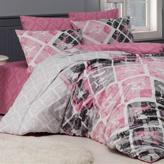 Bavlnené posteľné obliečky Riviéra ružové