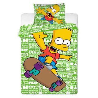 Detské posteľné obliečky Bart na skateboarde