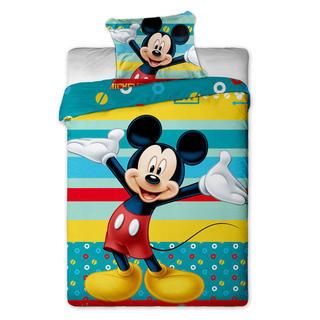 Detské posteľné obliečky Mickey mouse pruhy