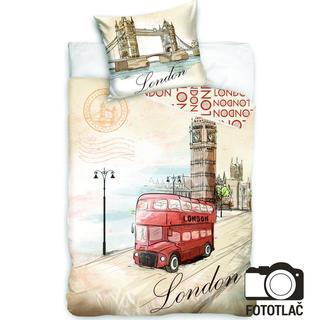 Bavlnené posteľné obliečky London Red Bus